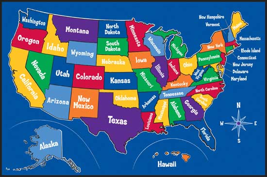 Map Of The United States Welcome To Ms Fetters Third Grade Class - Map of all states
